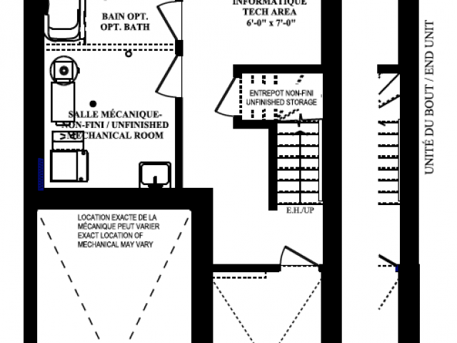 Lotus Basement Floorplan